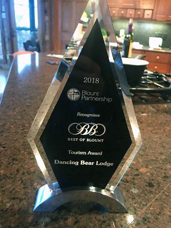 Tourism Award Winner - 2018 Best of Blount Award with Peyton Manning