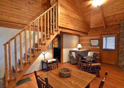Lodging Near Cades Cove with Fireplace
