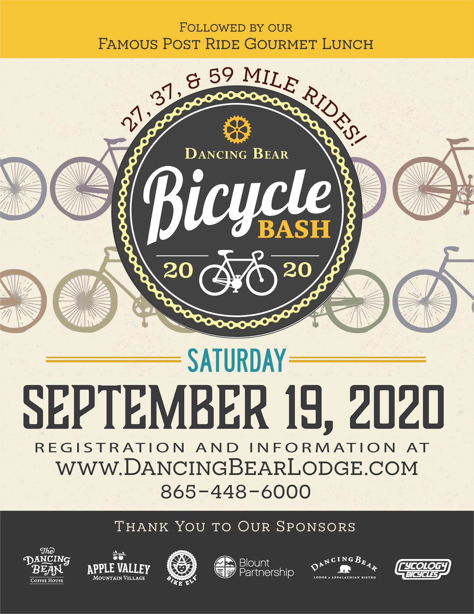 Bike Bash 2020 Flyer
