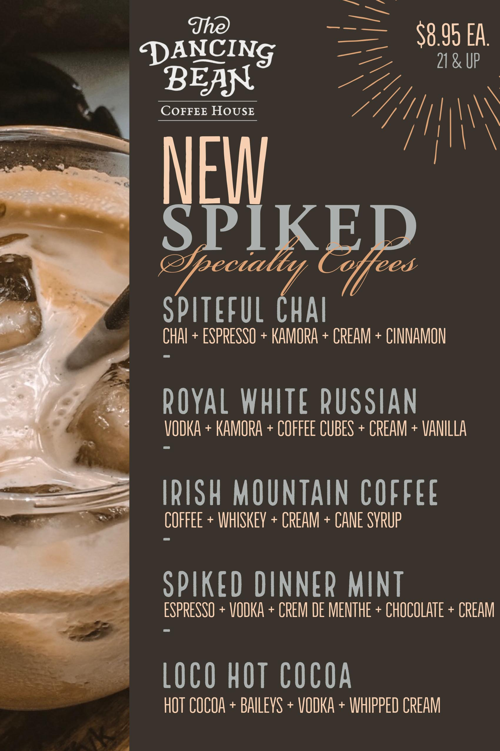 Spiked Specialty Beverages Menu