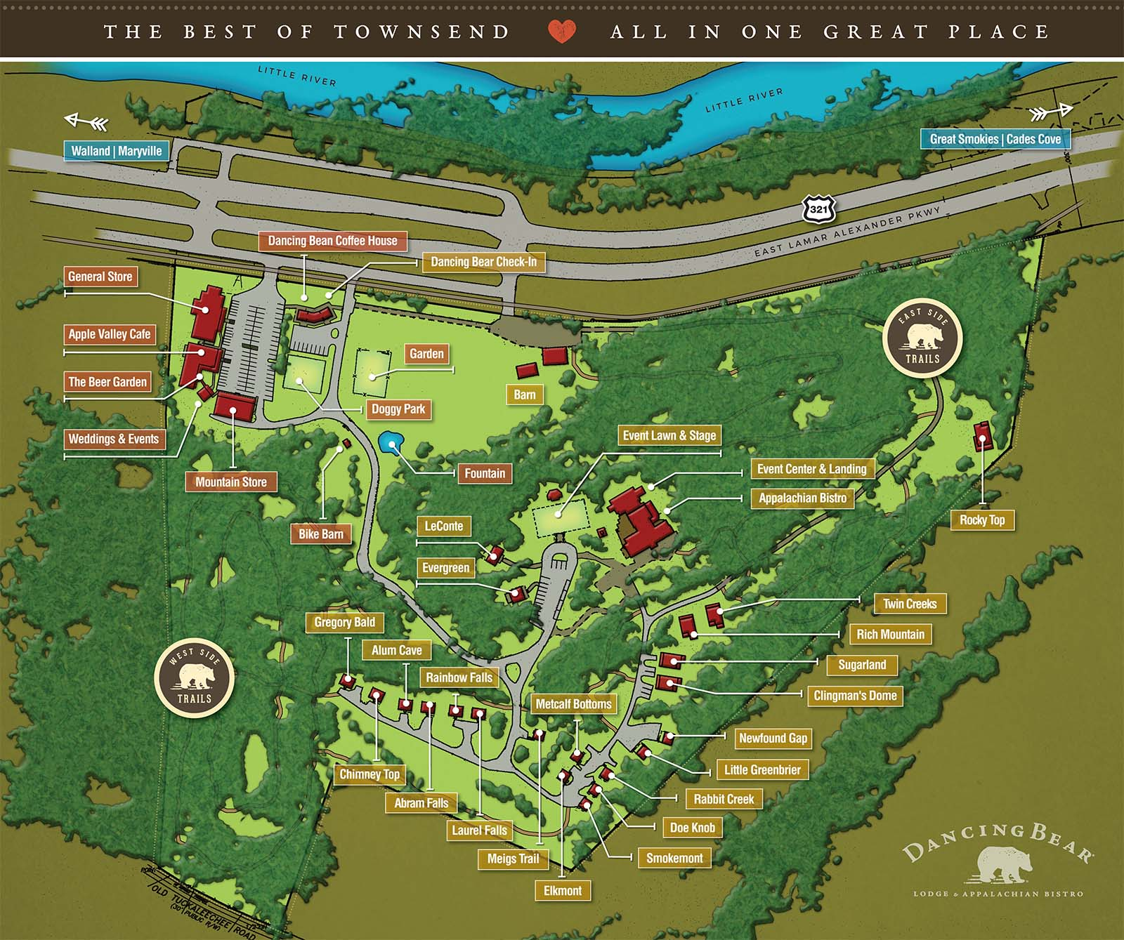 Dancing Bear Property Map