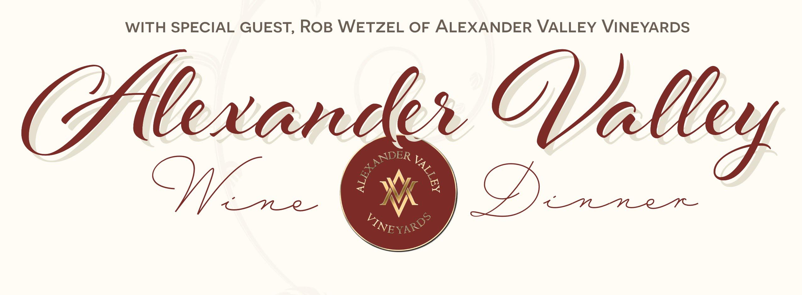 Alexander Valley Wine & Dinner