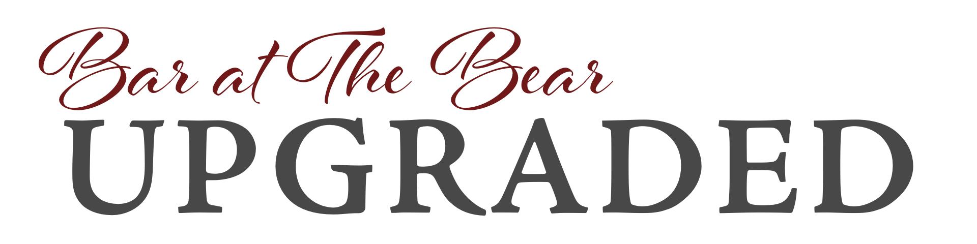Upgraded Bar at the Bear