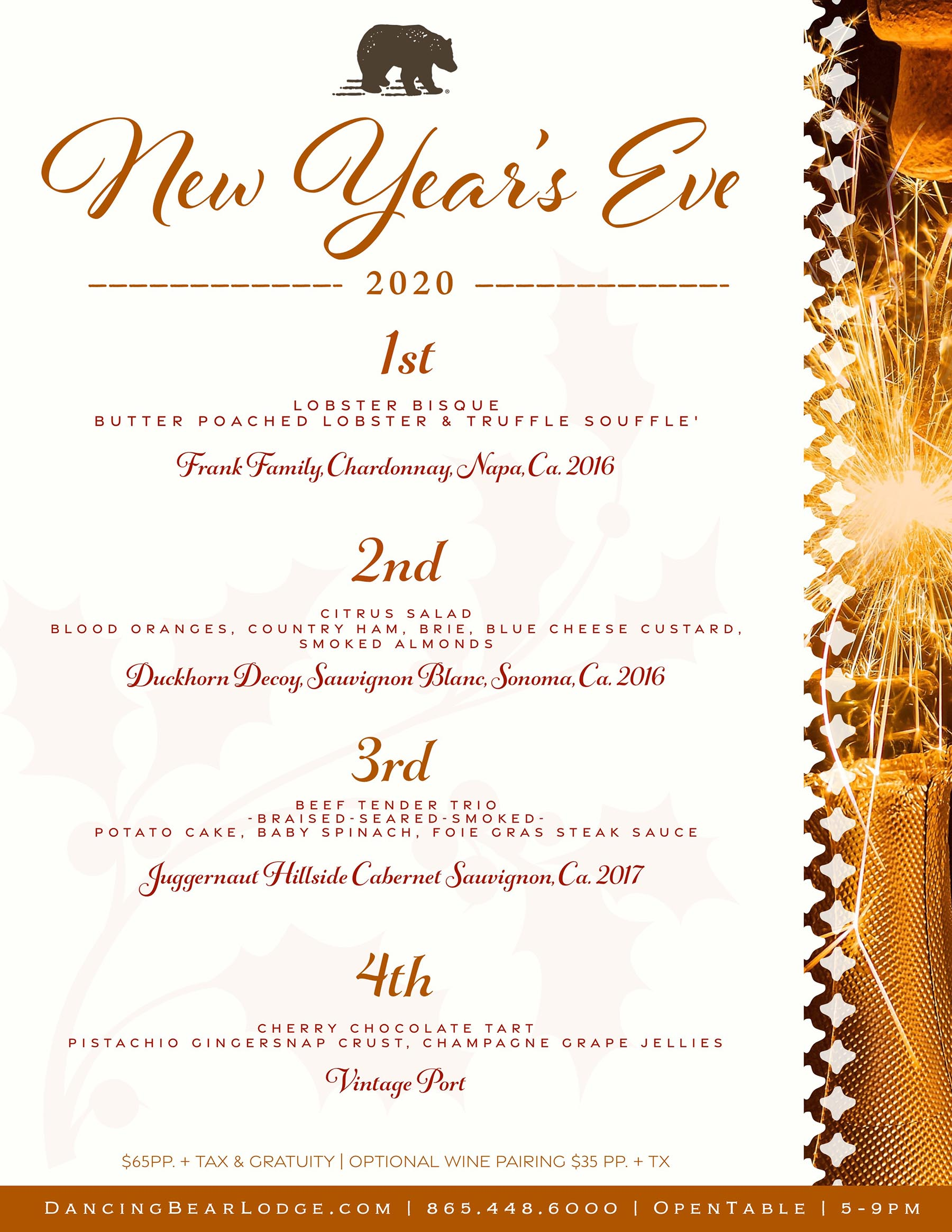 New Years Menu